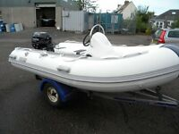 DISPLAY MODEL CLEARNCE 3.3M RIB WITH CONSOLE NEW NEVER BEEN IN THE WATER