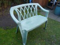 2x seater plastic garden chair.