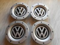 SET OF 4 VW WHEEL CENTRE CAPS FOR 9 AND 12 SPOKE ALLOYS 147MM.56-58MM ON REAR.PART NO 8DO 601 165K
