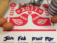 Calendar Tea Towel screen printing workshop - ONE DAY ONLY!