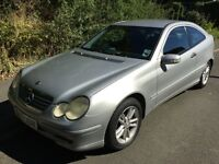 Mercedes C220 CDI 2148cc Turbo Diesel 6 speed manual 2 door Coupe 02 Plate 06/03/2002 Silver