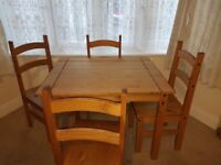 Corona 4 chairs and table.