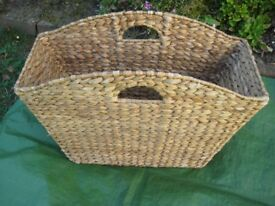 Woven Fabric Book, Magazine and Newspaper Tidy