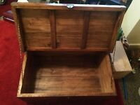 Nice big wooden chest trunk for sale
