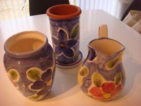 Blue Vase, Jug and Wine Cooler