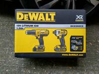 Brand new sealed Dewalt DCZ298C2 Combi drill and Impact Driver Set