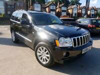 2008 JEEP GRAND CHEROKEE 3.0 CRD V6 OVERLAND AUTO 4X4 BLACK LEATHERS SAT NAV TV/DVD LOW MILEAGE