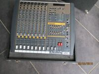 Studiomaster Powerhouse Horizon 1208 1200w powered mixing desk in carrying case
