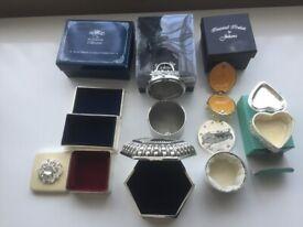 7 assorted gemmed trinket boxes