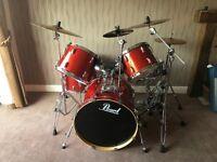 Pearl Vision Birch drum set