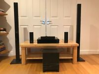 Sony Home Theatre System, Blu-ray DVD player, surround sound speakers and sub BDV-E870/E370