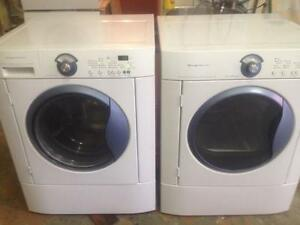 25- FRIGIDAIRE Portes Bleues Laveuse Sécheuse Frontales Frontload Washer Dryer