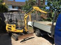 digger hire and operator - groundwork's and landscaping crawley