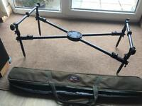 Carp fishing rods, reels and rod pod