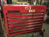 Mechanics Toolbox - Clarke HD 10 drawer red top box
