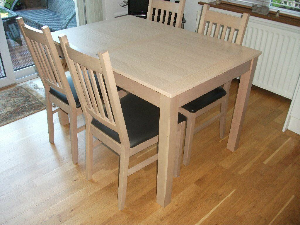 Modern Light Oak Extending Dining Table And 4 Chairs In Hawkinge Kent Gumtree
