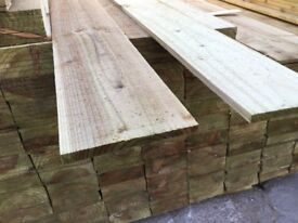 Feather edge boards pressure treated