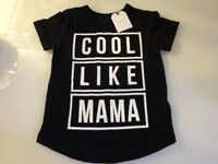 Next black children's 'Cool like Mama' t-shirt. BRAND NEW WITH TAGS. 12-18 mths