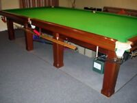 Full Size Snooker Table - dry stored - ready for collection/installation