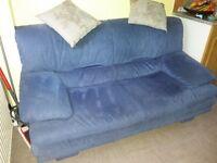 Natuzzi sofa, royal blue, 2 seater
