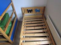 """IKEA kisd"""" bed. Good condition. From smoking free house. No mattress!!"""