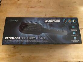 NEW progloss deep form brush hair straightener