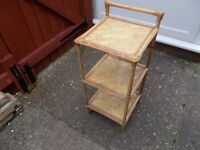 Pine side table or shelving unit