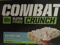 2 boxes combat crunch protein bars