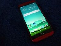 HTC ONE M8 RED UNLOCKED AS NEW CONDITION