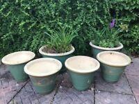 6 Garden Ceramic Pots