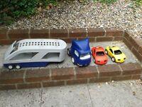 Little Tikes Car Transporter Set - Great Outdoor Fun - Dusty But Plenty Of Play Left