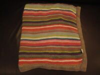Gorgeous Mamas & Papas knitted striped baby blanket in excellent condition