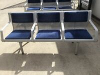 8 number reclaimed 3 seater Metal benches