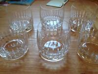 Czech crystal glasses-never used