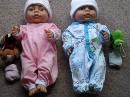 """TWIN  ''PETERKIN DOLLS"""" ANATOMICALLY CORRECT """" OCTOBER SPECIAL"""" Canadian Ballarat City Preview"""
