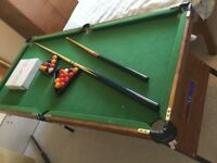 Pool table BCE le club, foldable