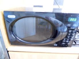 Microwave, DeLonghi multi function, black.