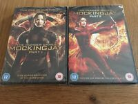 The hunger games mockingjay part 1 and 2 dvds brand new!
