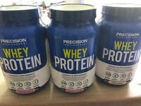 3 x Whey Protein Barrels BRAND NEW & sealed 103 servings