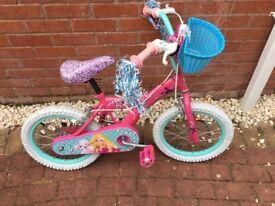 Child's barbie bike