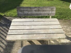 Outdoor Picnic Table and Bench Seat