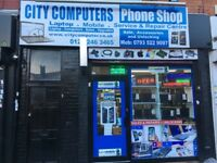 Mobiles phones & Computers shop for sale. 4 years running business on Ladypool road