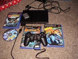 PLAYSTATION 2 SLIMLINE WITH GAMES