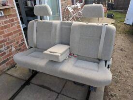 Large Camper Van 3 Seat Sliding Triple Bench VW T4 T5 Transit Sprinter Vivarro Inc Shoulder Belts