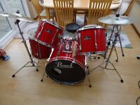 A Red Peal Export Drum Kit