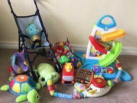 Various baby toys, fisher price, Lamaze etc