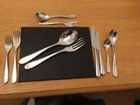 Alessi Nuovo Milano 8 place setting - silver (76 items)