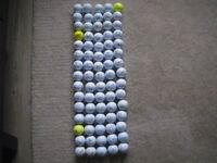LOT OF 75 GOLF BALLS FOR PLAY or PRACTISE. TITLEIST; SRIXON and CALLAWAY MAINLY. GOOD CONDITION.