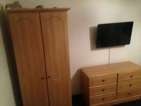 Double wardrobe and double chest of drawers £90