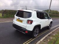 2015 JEEP RENEGADE LIMITED ESTATE WHITE/BLACK CAT D 1.6 DIESEL 14,500 MILES ONLY NEW CONDITION
